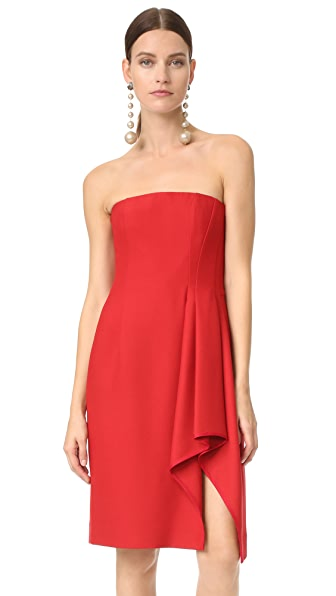 J. Mendel Strapless Bustier Dress