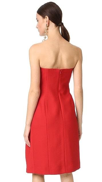 J. Mendel Strapless Bustier Dress