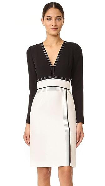 J. Mendel Seamed Cocktail Dress