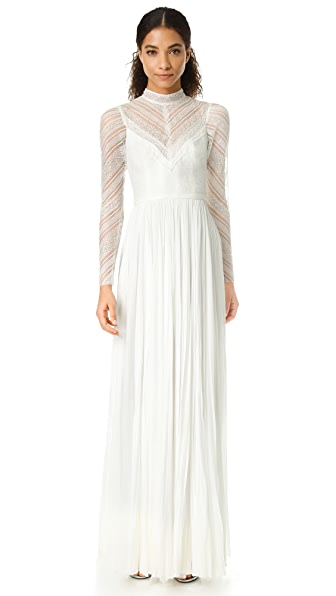 J. Mendel Lily High Neck Gown - Ivory