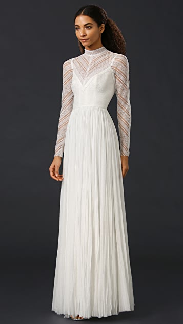 J. Mendel Lily High Neck Gown