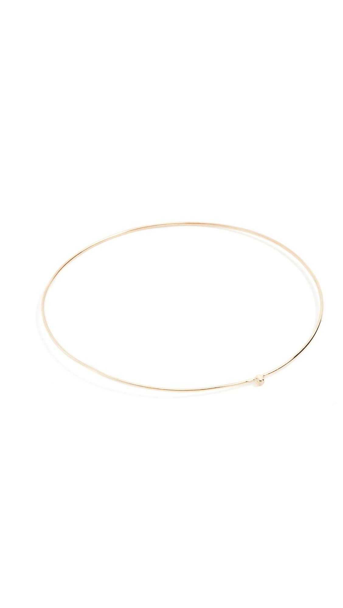 Jennifer Meyer Jewelry 18k Gold Diamond Thin Bangle - Diamond