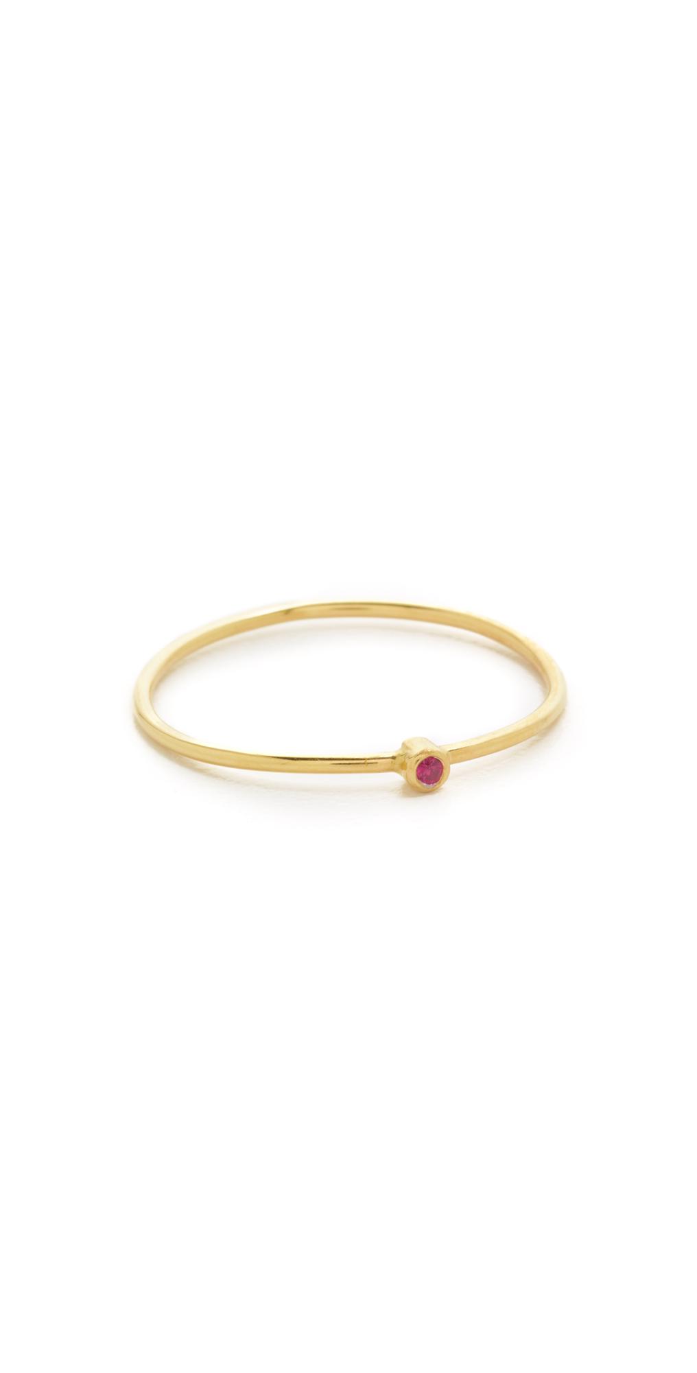 18k Gold Thin Ruby Ring Jennifer Meyer Jewelry