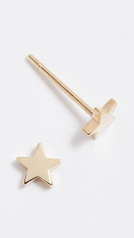 Jennifer Meyer Jewelry 18k Gold Mini Star Stud Earrings   SHOPBOP