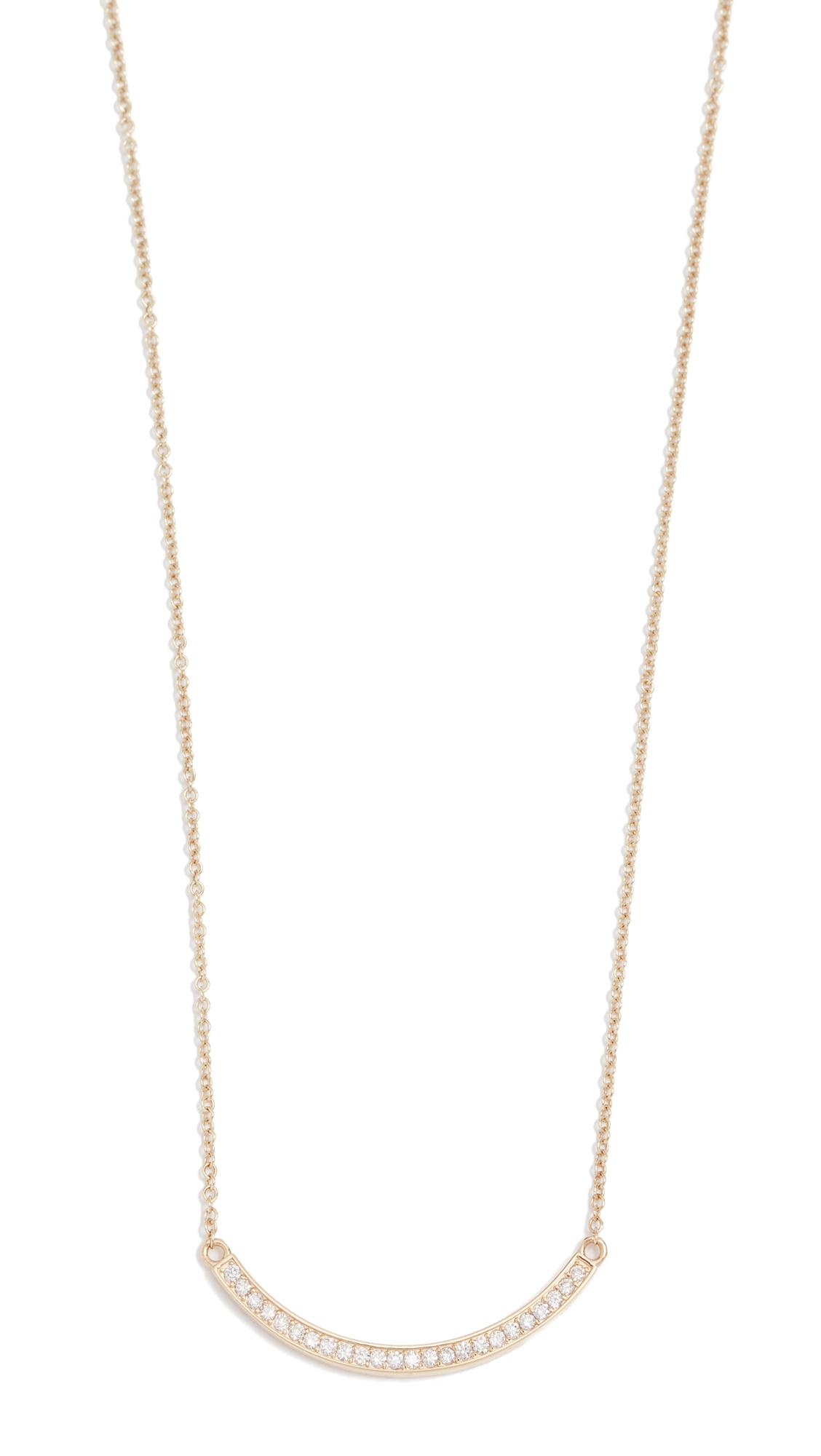 Jennifer Meyer Jewelry 18k Gold Diamond Stick Necklace - Diamond
