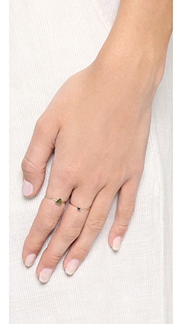 Jennifer Meyer Jewelry 18k Gold Mini Heart Ring