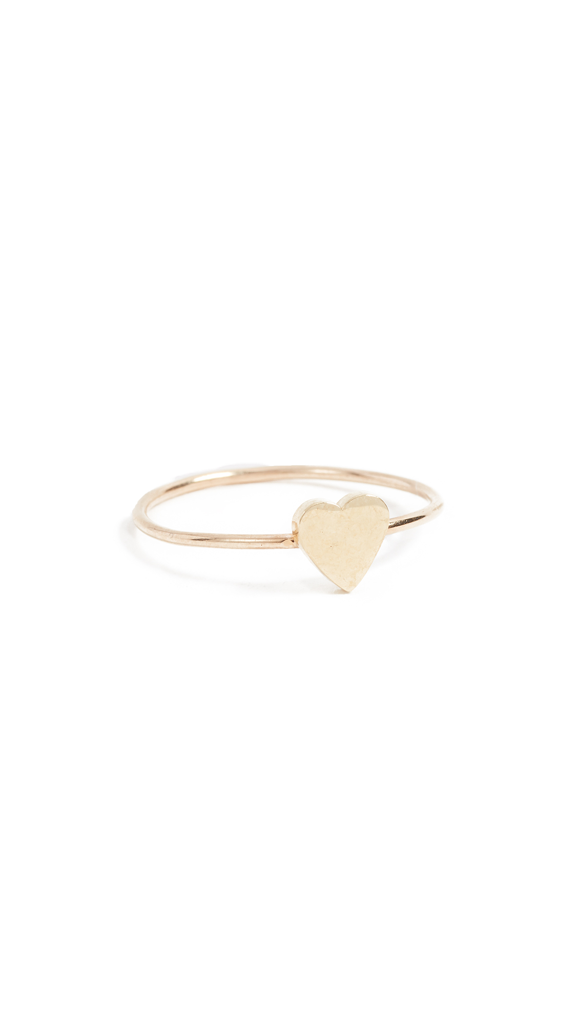 Jennifer Meyer Jewelry 18k Gold Mini Heart Ring - Gold