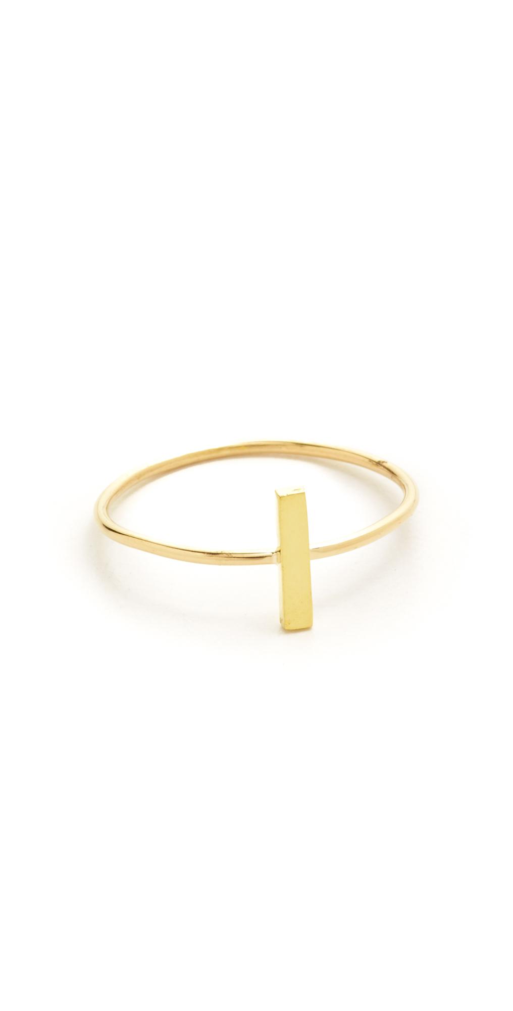 18k Gold Bar Ring Jennifer Meyer Jewelry