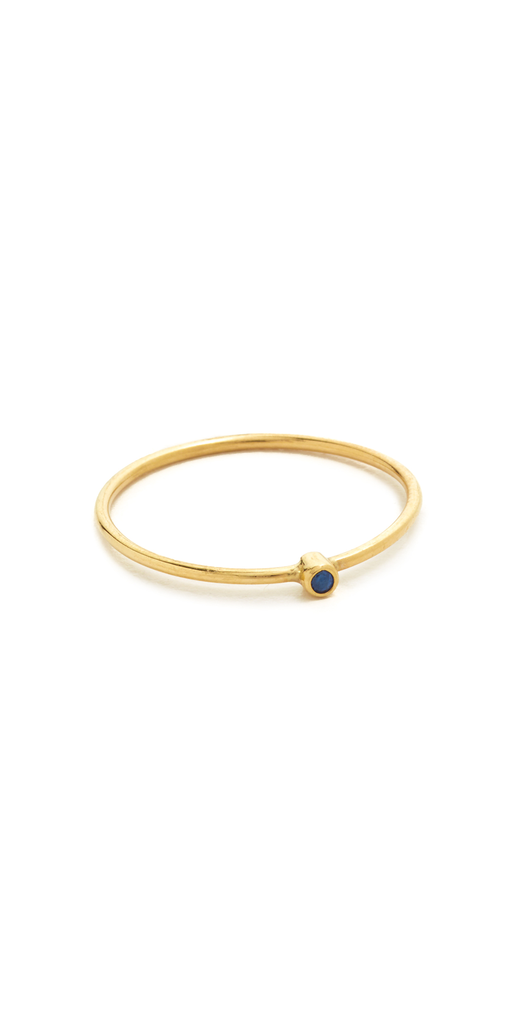 18k Gold Thin Ring with Sapphire Jennifer Meyer Jewelry