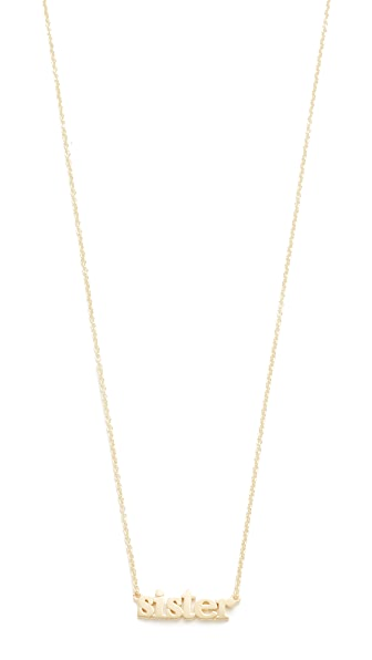 Jennifer Meyer Jewelry 18k Gold Sister Necklace