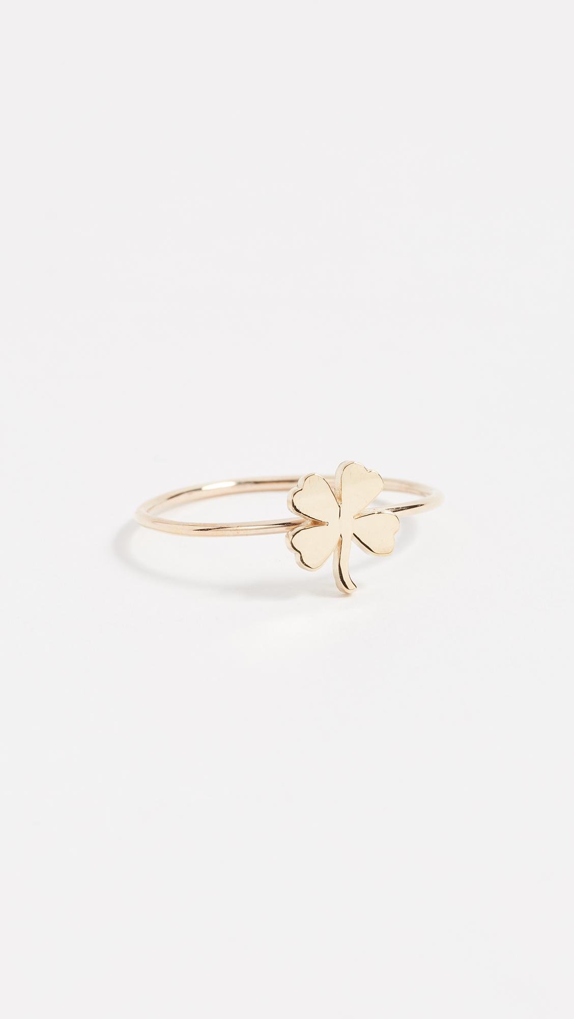 f380e7f35c0fb2 Jennifer Meyer Jewelry 18k Gold Mini Clover Ring   SHOPBOP