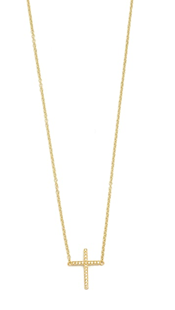 Jennifer Meyer Jewelry Thin Cross Necklace