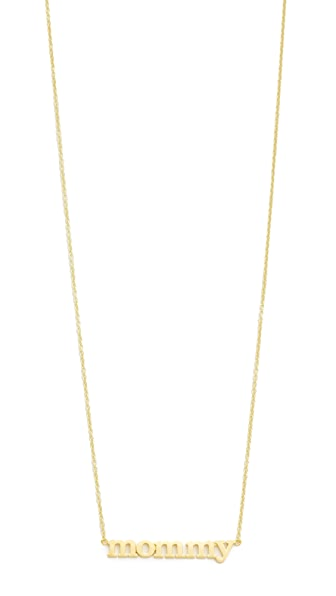 Jennifer Meyer Jewelry Mommy Necklace In Gold
