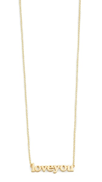 Jennifer Meyer Jewelry Love You Necklace