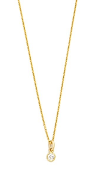 Jennifer Meyer Jewelry Diamond Single Bezel Necklace