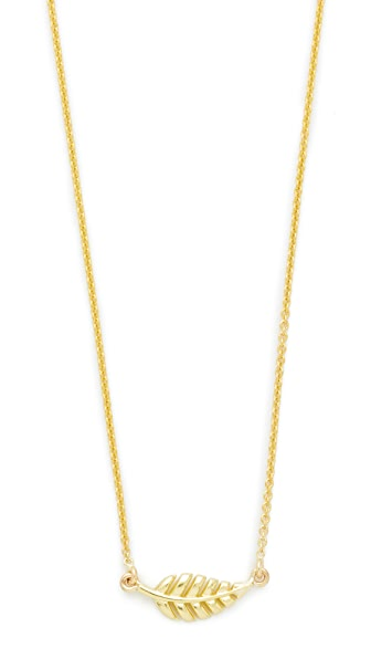 Jennifer Meyer Jewelry Mini Leaf Necklace