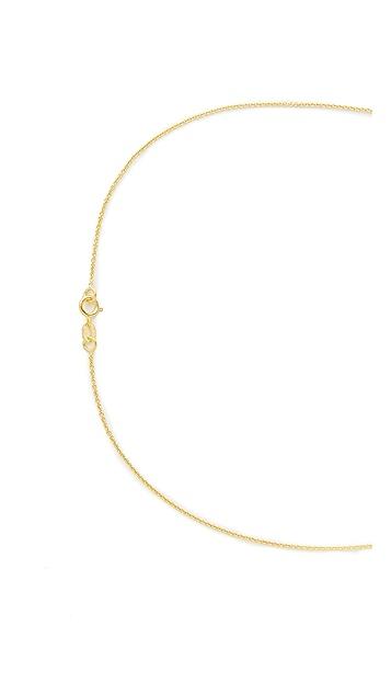 Jennifer Meyer Jewelry 18k Gold Mini Leaf Necklace