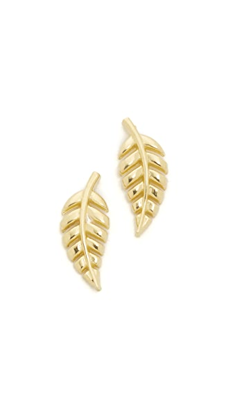 Jennifer Meyer Jewelry Mini Leaf Stud Earrings