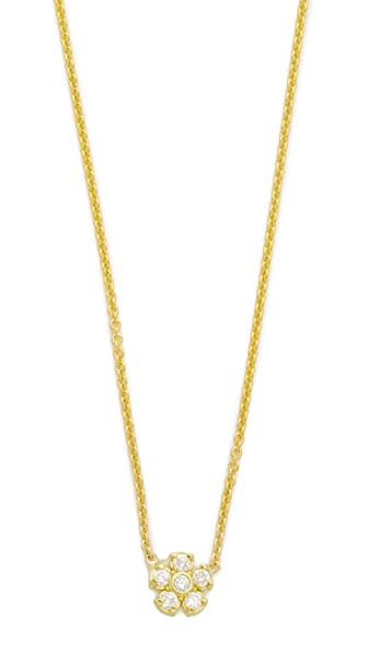 Jennifer Meyer Jewelry Diamond Single Flower Necklace