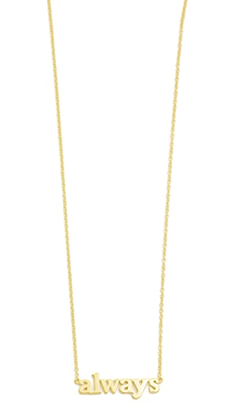 Jennifer Meyer Jewelry 18k Gold Always Necklace