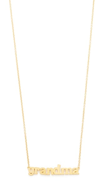 Jennifer Meyer Jewelry 18k Gold Grandma Necklace - Yellow Gold