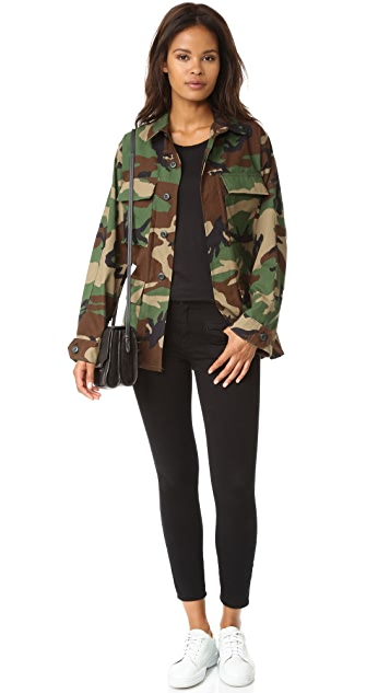 JN by JN LLOVET Camo Jacket with Stars