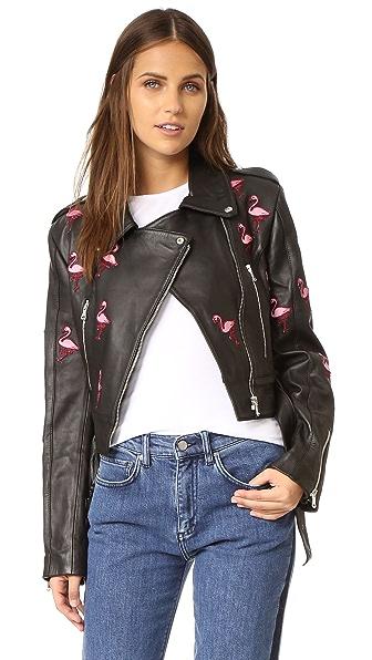 Flamingos Leather Jacket