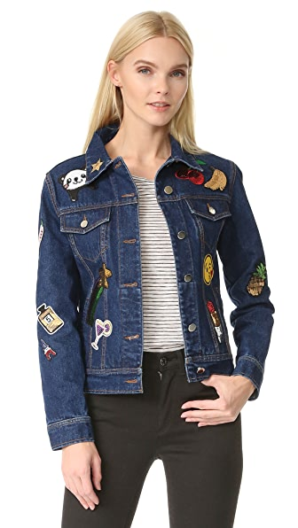 JN by JN LLOVET Denim Jacket with Appliques