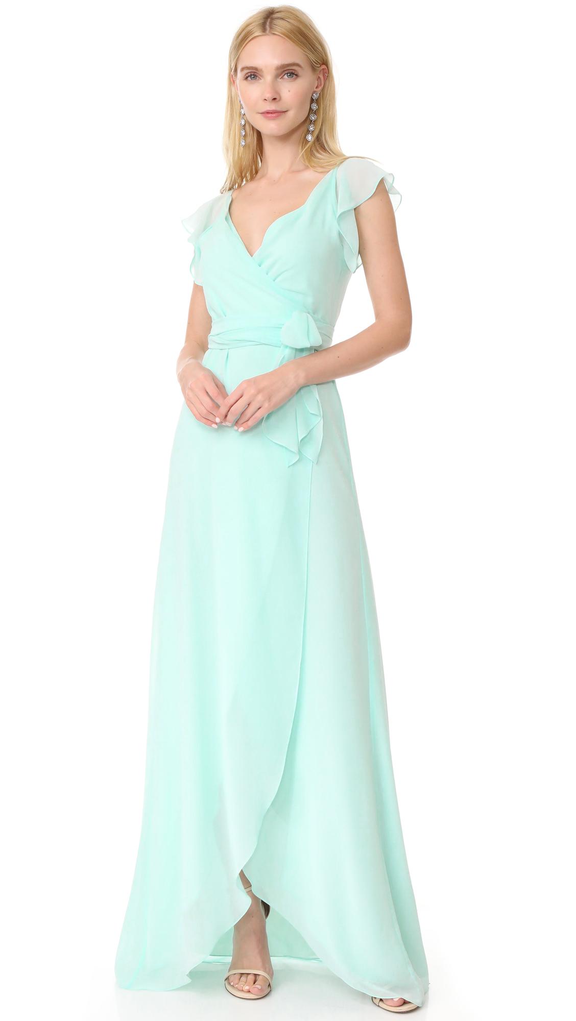 Joanna August Dorian Ruffle Sleeve Wrap Dress | SHOPBOP