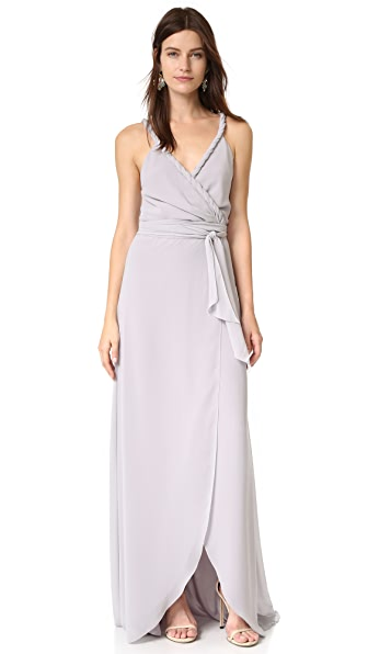 Joanna August The Parker Twist Strap Wrap Dress