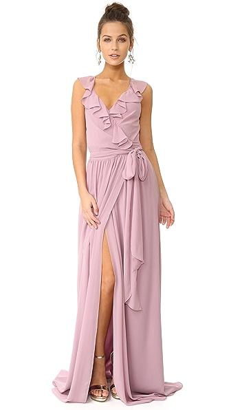Joanna August Lacey Ruffle Wrap Dress - Bohemian Rhapsody