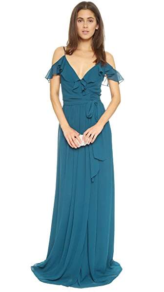 Joanna August Portia Off Shoulder Wrap Dress