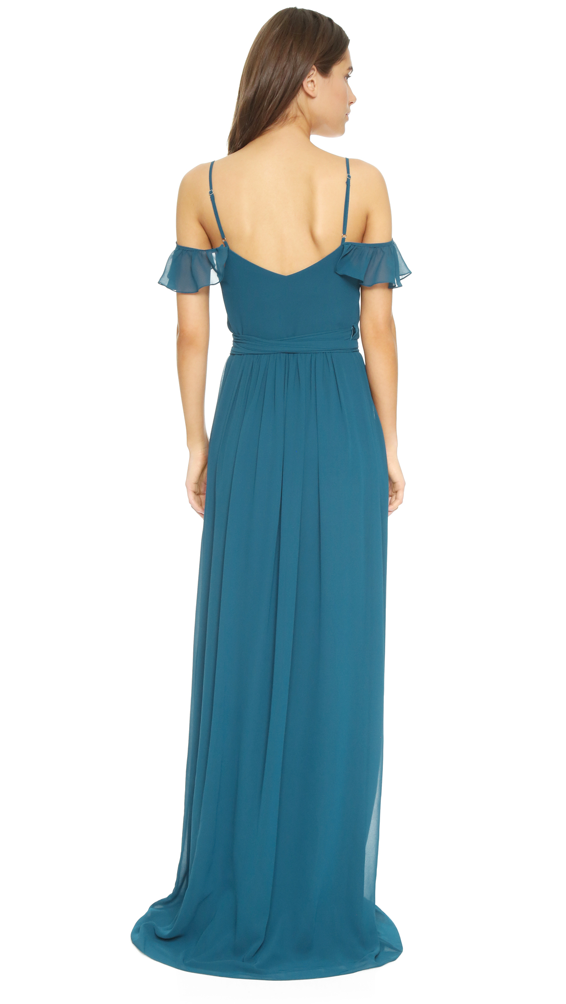 Joanna August Portia Off Shoulder Wrap Dress | SHOPBOP