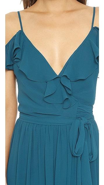 Joanna August Portia Off Shoulder Wrap Dress