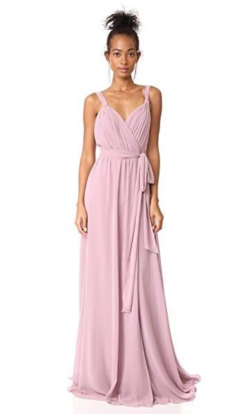 Joanna August Cindy Pleated Wrap Gown - Bohemian Rhapsody