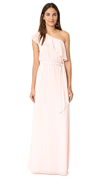 Joanna August 8th Ave Long One Shoulder Dress In Tiny Dancer