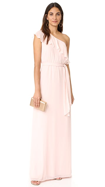 Joanna August 8th Ave Long One Shoulder Dress