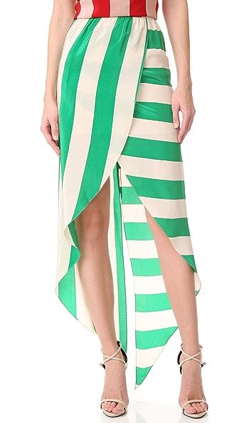 Juan Carlos Obando Printed Wrap Skirt