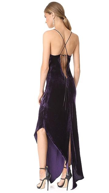 Juan Carlos Obando Asymmetrical Cocktail Dress