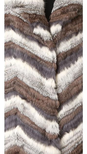 Jocelyn Long Hair Rabbit Coat