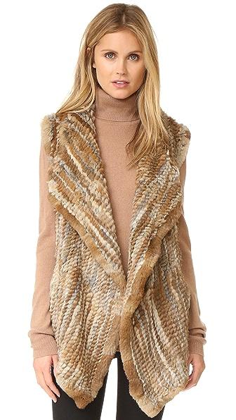 Jocelyn Sheared Asymmetrical Rabbit Vest