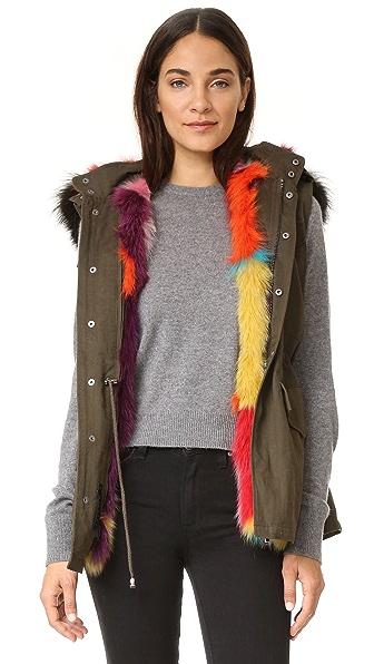 Jocelyn The Rebel Multi Dyed Army Vest