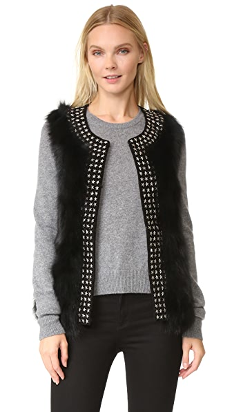 Jocelyn Fox Belly Vest - Black
