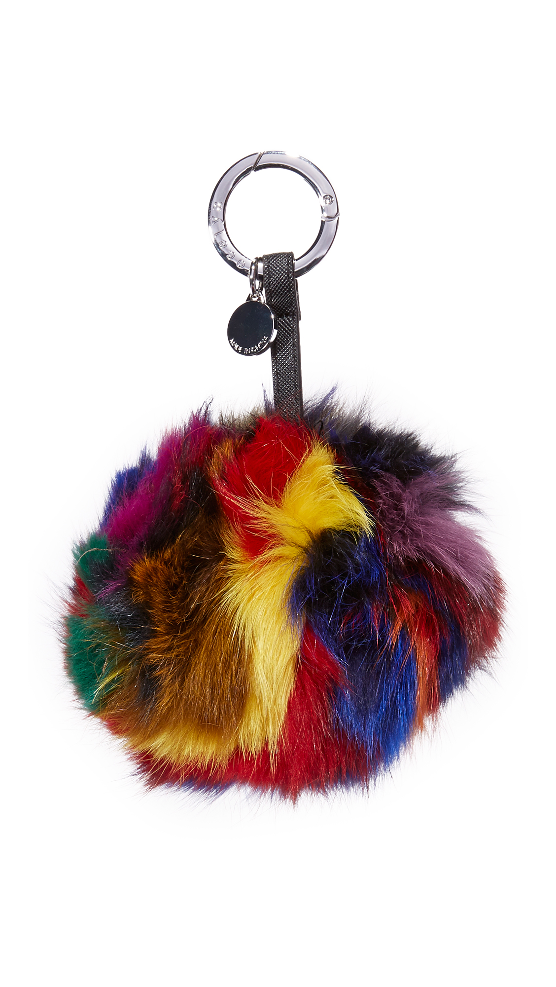 jocelyn female jocelyn super swirl fur leather bag charm dark multi