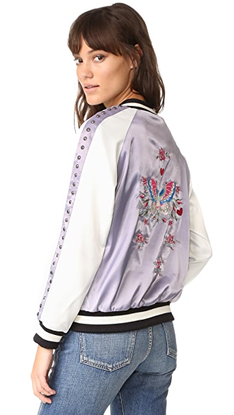Jocelyn Reversible Ella Bomber Jacket - Light Blue