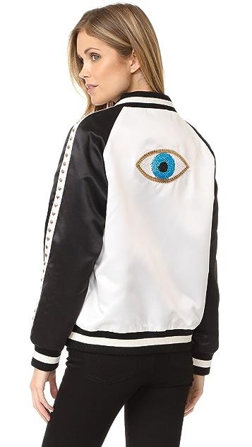 Jocelyn Evil Eye Bomber Jacket