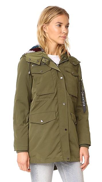 Jocelyn Cargo Coat With Mink Liner