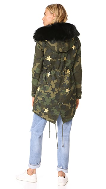 Jocelyn Camo with Stars Duffle Coat