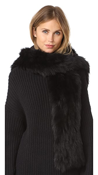 Jocelyn Fur Hooded Scarf With Pockets at Shopbop