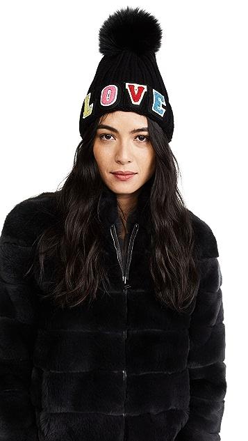 Jocelyn Love Fur Pom Hat